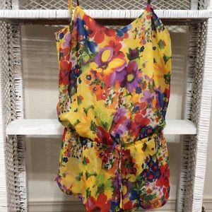 Acid flowers romper